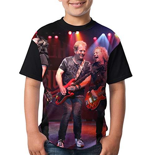 WangSiwe Night Ranger Music Band Boys Summer 3D Printing Short Sleeve T-Shirt Black ()