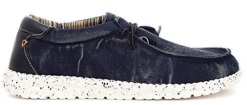À Blu Chaussures Élastique Noir Tm922 Bleues Avec Caf Sneakers Lacets 7xPqwI4U