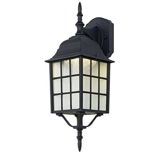Black Outdoor LED Wall Lantern by Bel Air Lighting