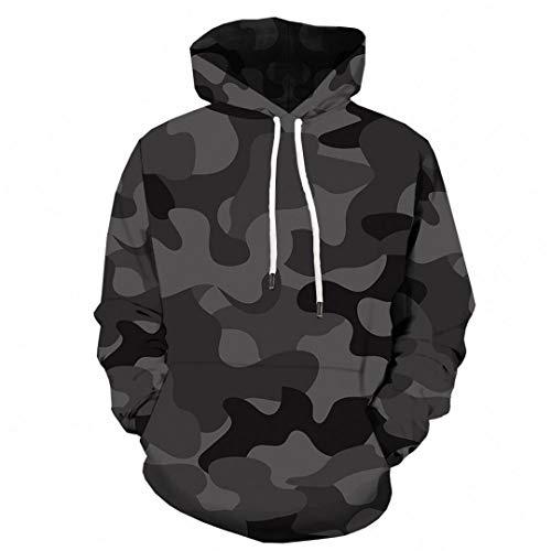 (Camouflage Men Streetwear Gray Camo 3D Hoodies Anime Print Sweatshirt Hooded Military Vintage Pullover 3D Hoodies 20 6XL)