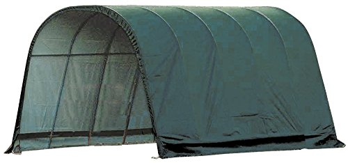 ShelterLogic Round Style Run-In Shelter, Green, 12 x 20 x 10 ft. ()