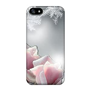 DonnaLConner Case Cover For Iphone 5/5s - Retailer Packaging Frost On The Roses Protective Case