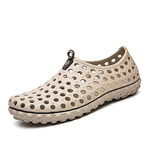 Moda Hueco Hombre Caminar el Vamp Sandalias Libre Agua para Zapatos Caqui para Sandalias Aire británica Zuecos 2018 para al 7v5qppIx