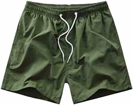 a1e4df9696c1 Spirio Men Athletic Summer Drawstring Quick Drying Beach Shorts Boardshort  Swim Trunk