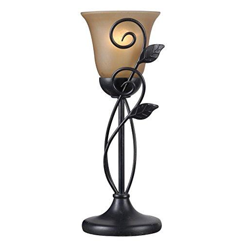 Uplight Table (Contemporary Dark Brown Bronze Finish Oil Rubbed Vine Table Torch Lamp)