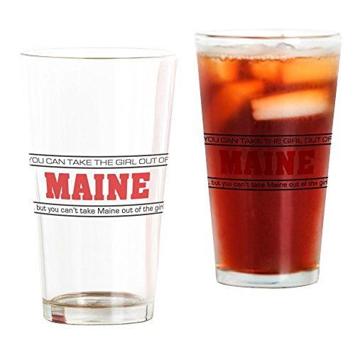CafePress Girl From Maine' Pint Glass, 16 oz. Drinking Glass ()