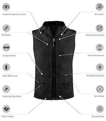 SCOTTeVEST Women's Q.U.E.S.T. Vest - 42 Pockets – Photography, Travel Vest (Large, Beige) by SCOTTeVEST (Image #1)