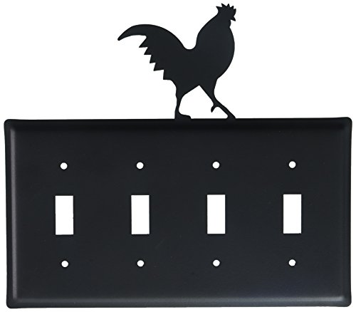 8.25 Inch Rooster Quadruple Switch Cover (Switchplate Rooster)