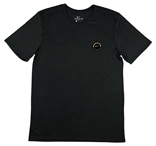 Nike Mens Dri-Fit Basketball All Over Graphic Shirt Grey/Black (2X-Large) (Nike Graphic Tees Dri Fit)