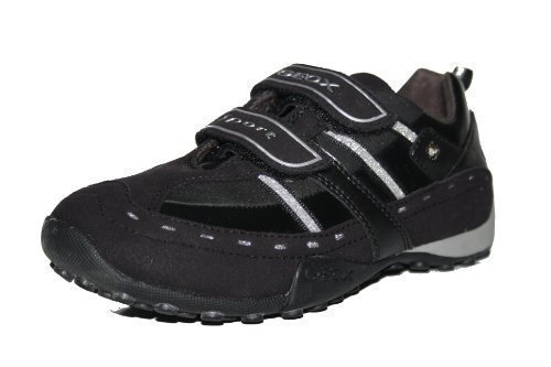 Geox J Snake Girl J7112A 002AU C6274 , Mädchen Sneaker, schwarz, (Black/silver C0039) Gr. 31