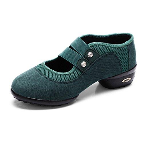 Green CHNHIRA Shoes Mesh Women's Timestep Belt Suede Dance v0vpxqrw
