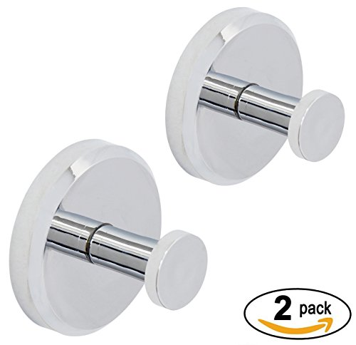 HOME SO Bathroom Hook with Suction Cup Holder - Removable Shower Kitchen Hooks Hanger for Towel, Bath robe, Coat, Loofah (2-Pack)