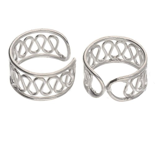 Robert JC Sterling Silver Coiled Wirework Ear Cuff Pair ()