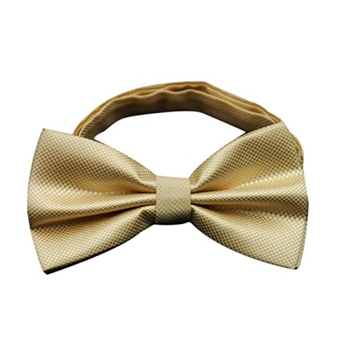 (Gifts For Men ! Charberry Mens Bow Tie Butterfly Cravat bowtie Wedding commercial bow ties Cravats Accessories (Gold))
