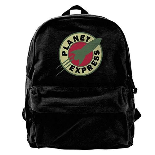 Canvas Backpack Planet Express Rucksack Gym Hiking Laptop Shoulder Bag Daypack For Men Women
