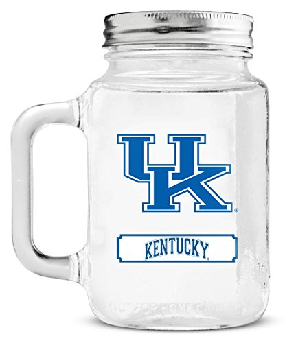NCAA Kentucky Wildcats 20oz Glass Mason Jar (Glass Wildcats)