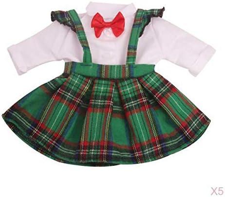 着せ替え 人形 服 ドール服 ドレス スカート 白シャツ ネクタイ 18インチアメリカンドール用