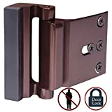 cardinal safety locks cabinet - Door Lock Child Proof, Home Security Door Reinforcement Lock Withstand 800 lbs Door Latch Double Safety Security Protection for Your Home (Bronze Door Security Lock)