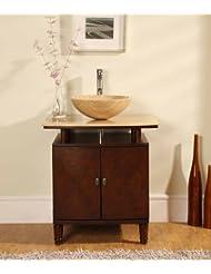 """29"""" Bathroom Vanity Cabinet Travertine Vessel Sink"""