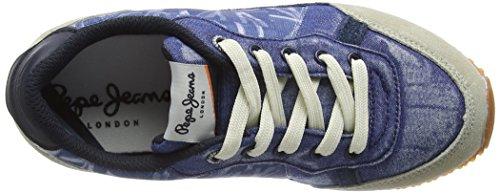 Pepe Jeans London Sydney Denim - Zapatilla Baja Niños Azul - Blue (Steel Blue)