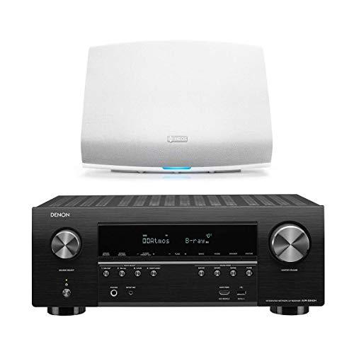Denon AVR-S940H 7.2 Channel 4K Ultra HD AV Receiver HEOS 5 Wireless Streaming Speaker - Series 2 (White)
