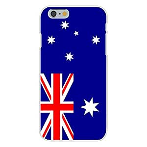 Apple iphone 4 4s Custom Case White Plastic Snap On - Australia - World Country National Flags