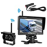5th wheel rv backup camera - DohonesBest Wireless Backup Camera And Monitor kit For RV/Truck/ Pickup/Trailer/Camper/5th Wheel IP69K Waterproof IR Night Vision Built-in Rear View Camera System  7