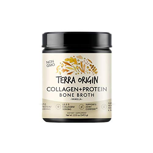 Bone Broth Protein Powder, Vanilla, 15 Servings, 17G Protein, Natural Collagen from Real Whole Food Sources - Supports Joint Comfort and Cartilage Health