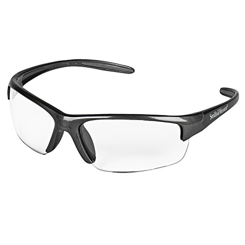 Smith and Wesson Safety Glasses (21294), Equalizer Safety Eyewear, Clear Lens, Gunmetal Frame, 12 Pairs/Case
