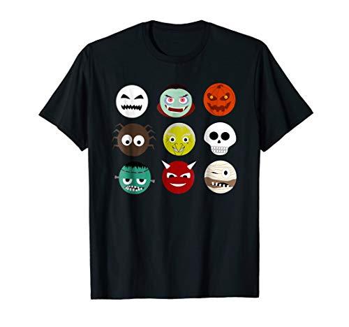 Scary Emoji T-Shirt, Monsters Shirt Emoji Halloween Costume