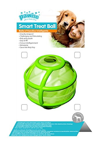 Pawise IQ Smart Treat Feeding Ball for Doggie Green or Red 3