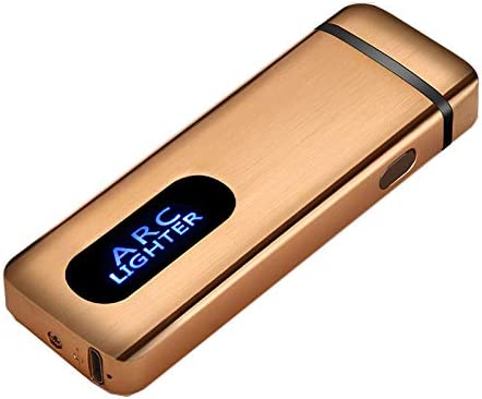 Arc Plasma Lighter X Beam USB Rechargeable Windproof Electric Cool Lighter (Gold)