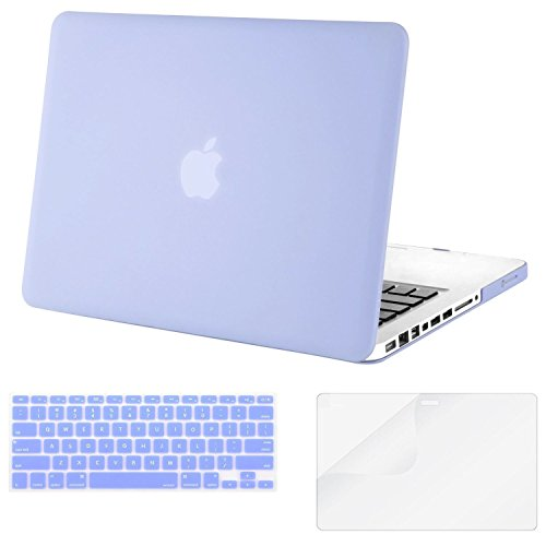 Mosiso Plastic Hard Case with Keyboard Cover with Screen Protector Only for Old MacBook Pro 13 Inch with CD-ROM (Model: A1278, Version Early 2012/2011/2010/2009/2008), Serenity Blue