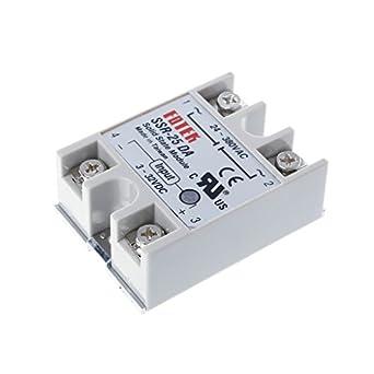 Solid State Relay Module 3-32V DC Input 24-380VAC SSR-40DA With Heat Sink