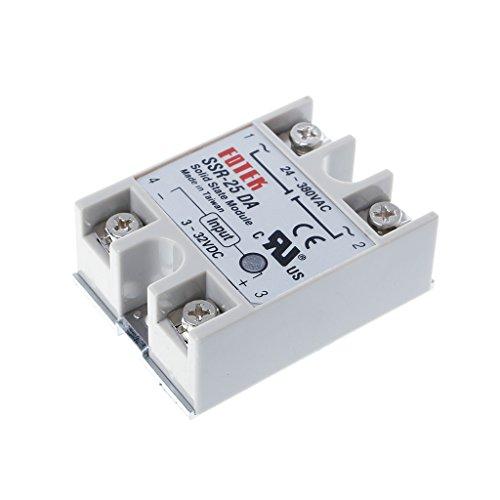 Solid State Relay Module SSR-25DA 25A 250V 3-32V DC Input 24-380VAC Output