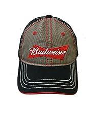 H3 Sportsgear Budweiser Herringbone Adjustable Hat
