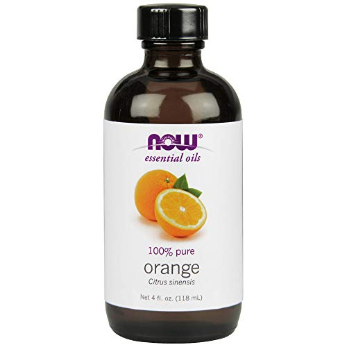 Now Essential Oils, Orange Oil, Uplifting Aromatherapy Scent, Cold Pressed, 100% Pure, Vegan, 4-Ounce