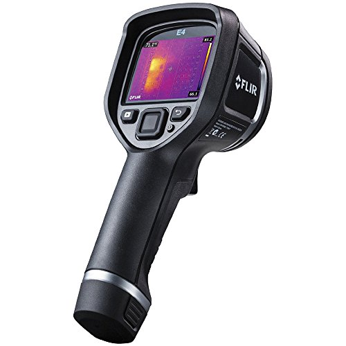 FLIR 63901-0101 Model E4 Compact Thermal Imaging Infrared Camera with MSX Enhancement, IR Resolution 4800 (80 x 60), MSX Resolution 320 x 240, Frame Rate 9Hz, Field of View 45° x 34°