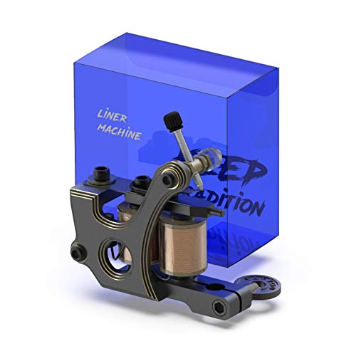 STIGMA Tattoo Machine CNC Carved from Italy Handmade Tattoo Coil Machine Gun 10 Wrap Coils for Liner