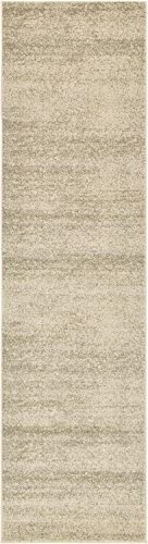 Unique Loom Del Mar Collection Contemporary Transitional Beige Runner Rug 2 7 x 10 0