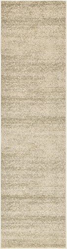 Unique Loom Del Mar Collection Contemporary Transitional Beige Runner Rug (3' x ()