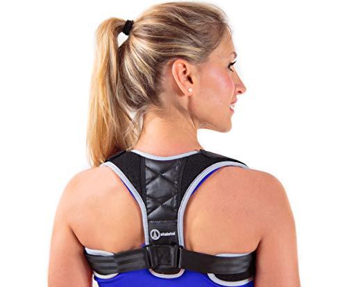 STALSTOL Posture Corrector for Women & Men-Adjustable Support Brace- Upper Back Pain Relief-Effective and Comfortable Posture