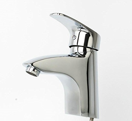 High-End Fashion Sink Faucet All-Copper Chrome Plated Bathroom washbasin Hot And Cold Water Mixed Faucet