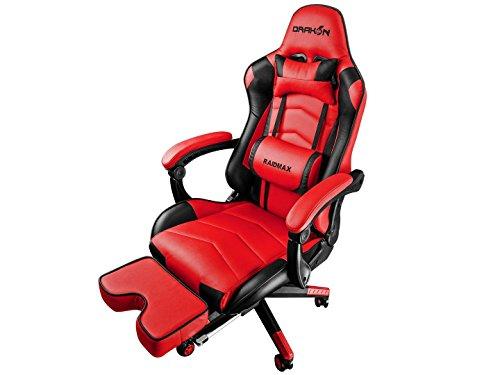Raidmax DRAKON 709 R Silla Gamer, Modern, Color Rojo/Negro