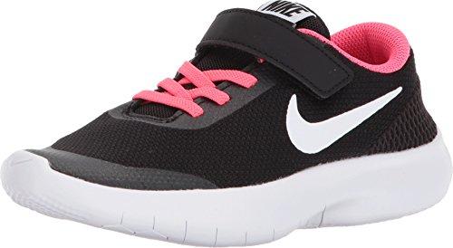 Nike Kids Flex Experience RN 7 (PS) Black White Racer Pink (10.5 M US Little - Racer Unisex