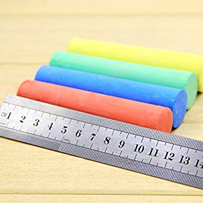 Yuehuam 50 Count Sidewalk Chalk Set with Carry Box Washable Colored Chalk Kids Outdoor Fun Chalk PaintToy Set: Toys & Games