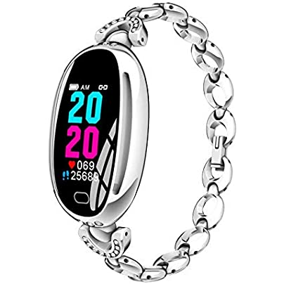 OOLIFENG Fitness Tracker with Heart Rate Blood Pressure Monitor IP67 Waterproof Fitness Watch Bluetooth Wristband Calorie Counter for Android iPhone Estimated Price £66.12 -