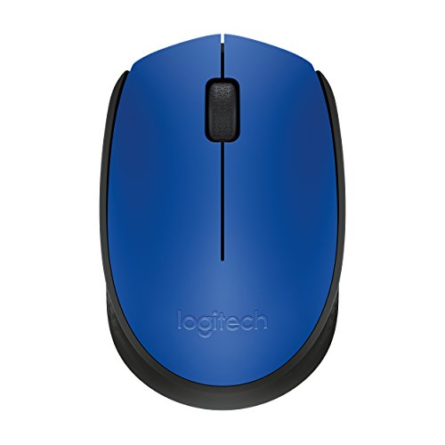 Logitech M171 Wireless Mouse, 2.4 GHz with USB Mini Receiver, Optical Tracking, 12-Months Battery Life, Ambidextrous PC/Mac/Laptop - Blue