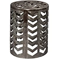 Hekman Furniture 27575 Aluminum Drum Stool End Accent Side Table