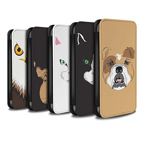 Stuff4 Coque/Etui/Housse Cuir PU Case/Cover pour Apple iPhone 7 / Multipack Design / Museaux Collection